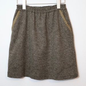 \J. Crew\• Leather-Tipped Bell Skirt